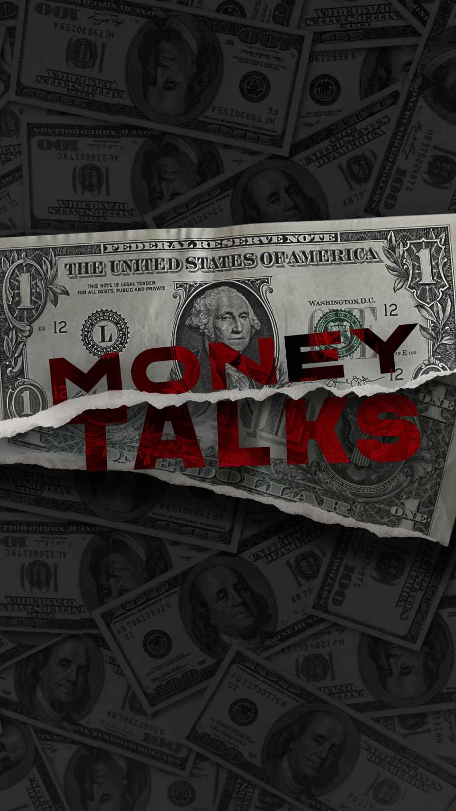 Money Talks iPhone Wallpaper