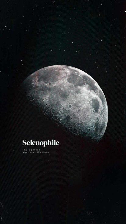Moon Lover iPhone Wallpaper