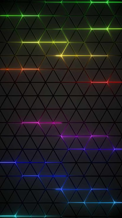 Neon Grid iPhone Wallpaper
