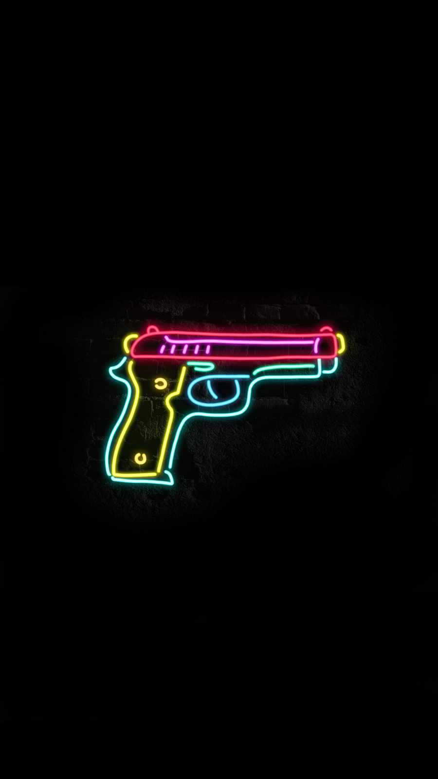 Neon Pistol iPhone Wallpaper