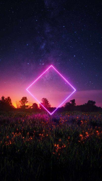 Neon Rhombus in Nature