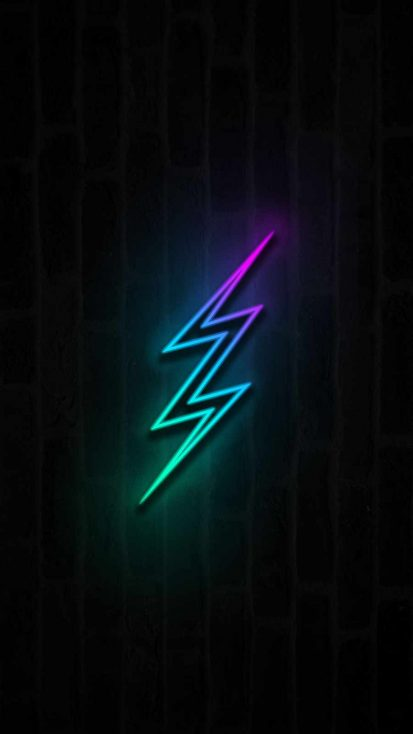 Neon Thunder iPhone Wallpaper