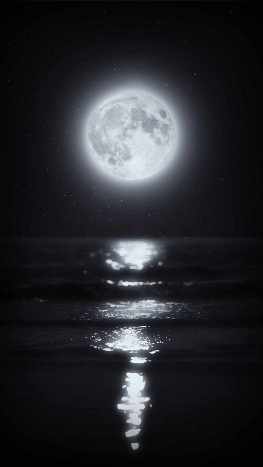 Night Moon iPhone Wallpaper
