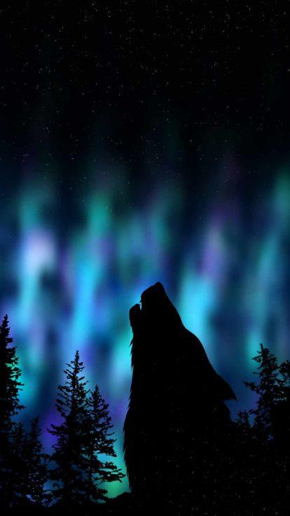 Night Wolf iPhone Wallpaper