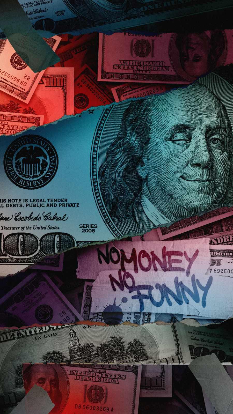 No Money iPhone Wallpaper