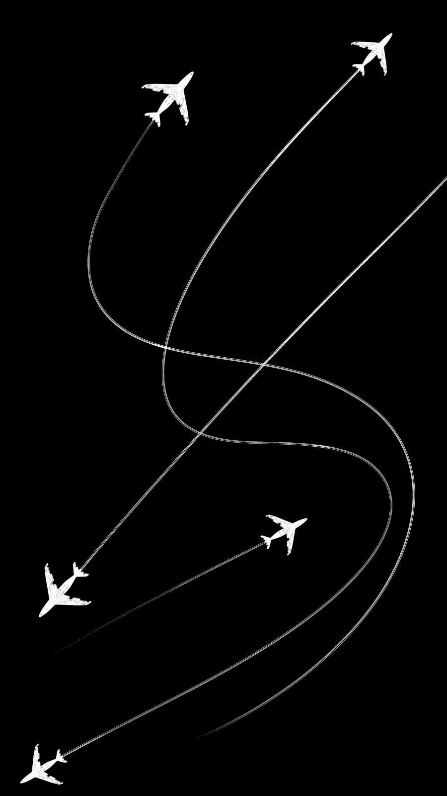 Planes Minimal iPhone Wallpaper