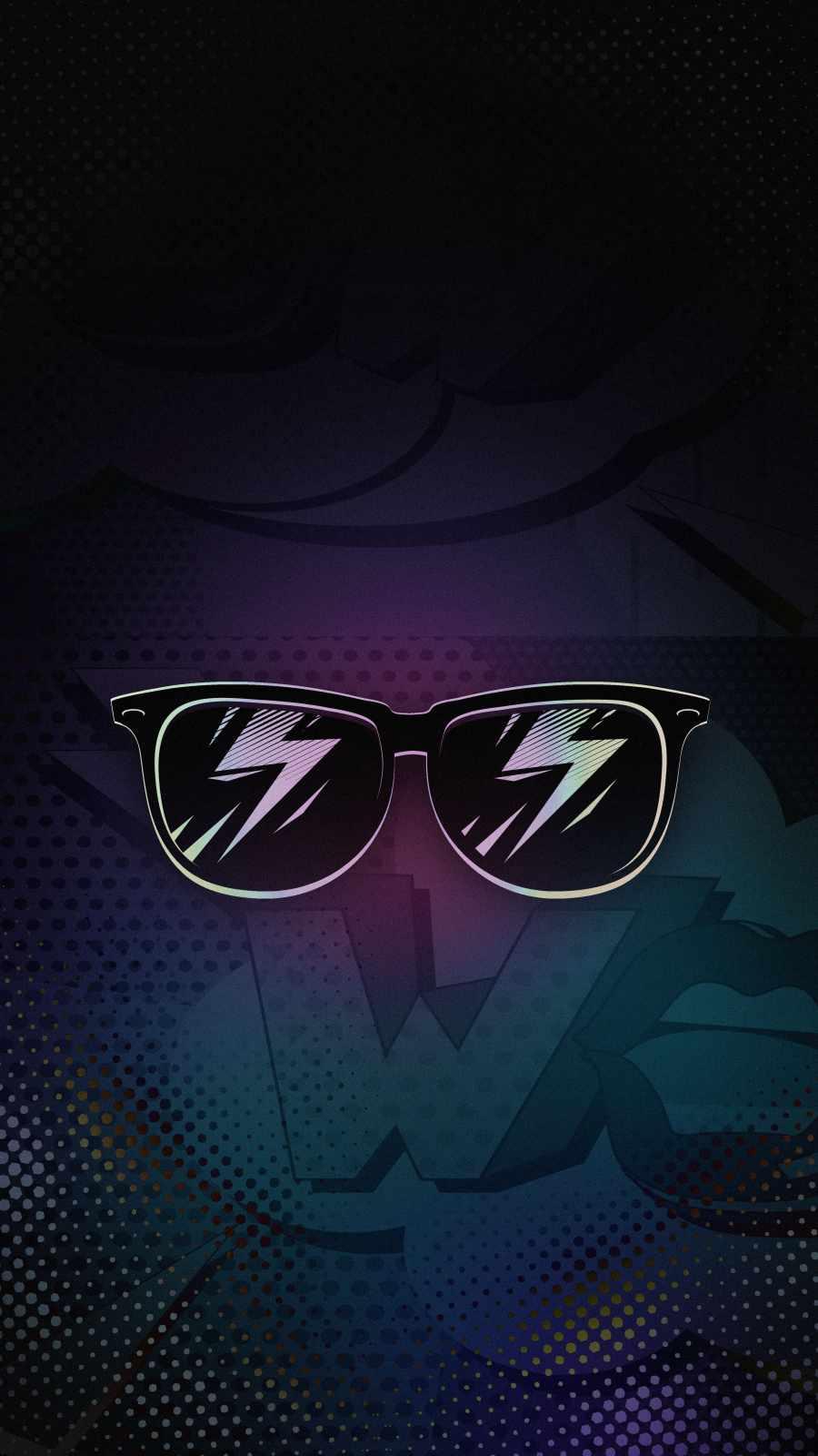 Retro Glasses iPhone Wallpaper