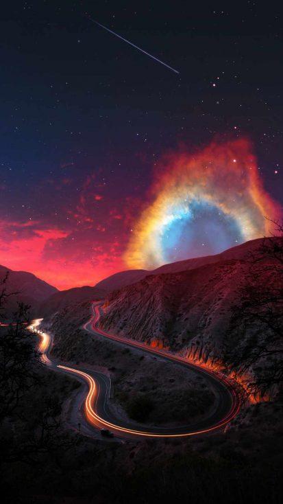 Road to Nebula iPhone Wallpaper