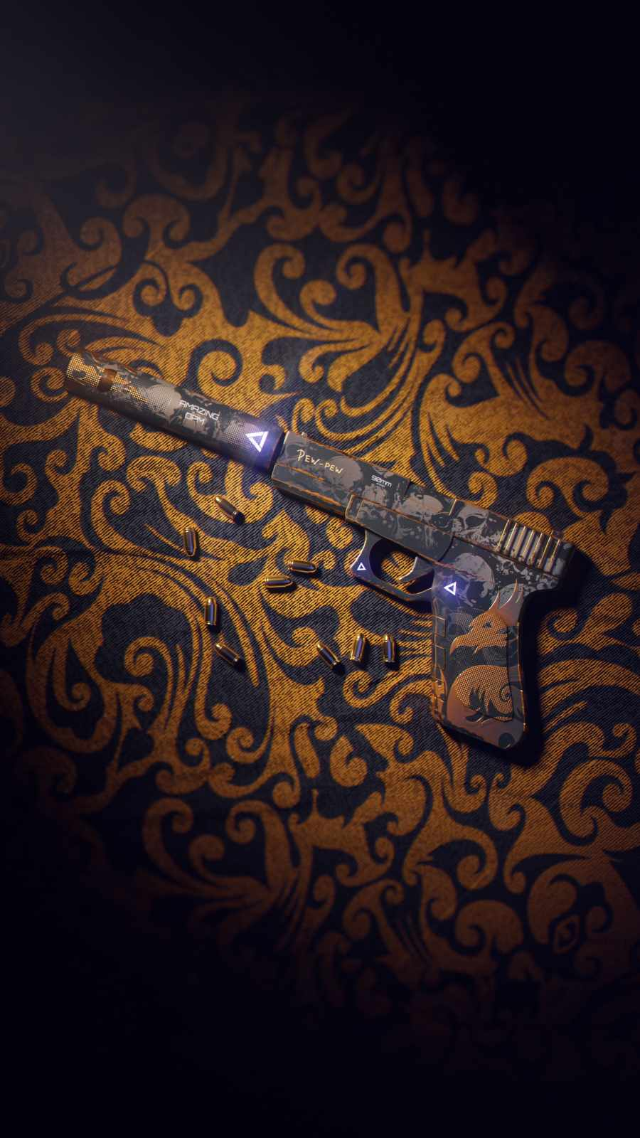 Silenced Gun iPhone Wallpaper