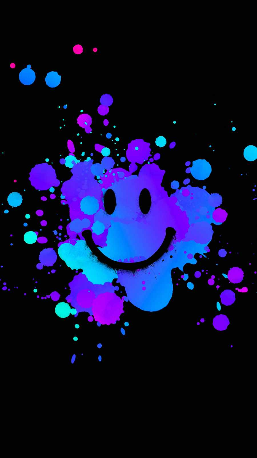 Smile Splash iPhone Wallpaper