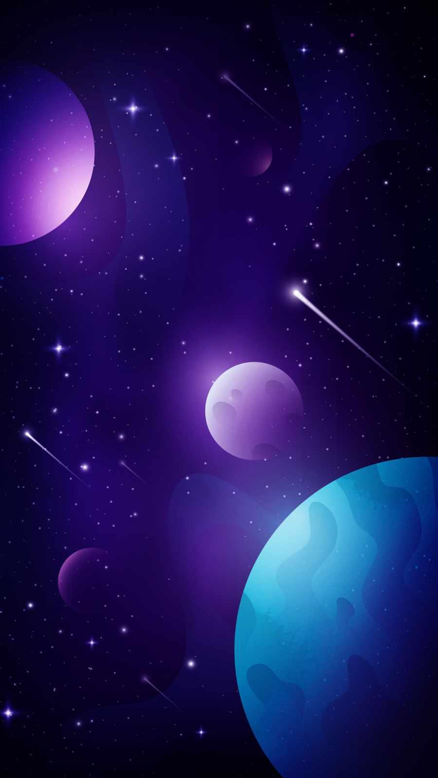 Space Minimal Art iPhone Wallpaper
