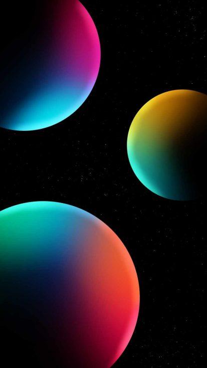 Space Spheres iPhone Wallpaper