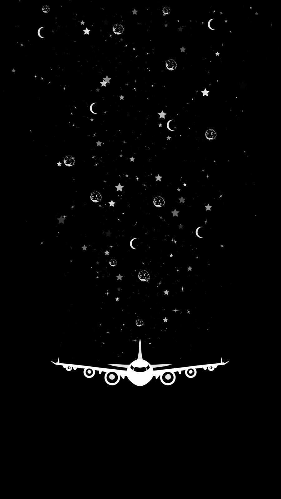 Star Plane iPhone Wallpaper