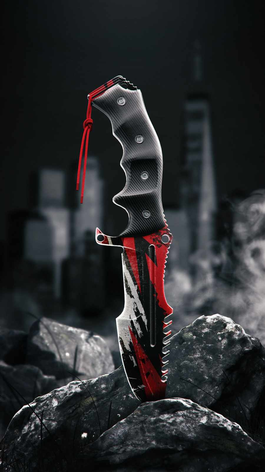 Survival Knife iPhone Wallpaper