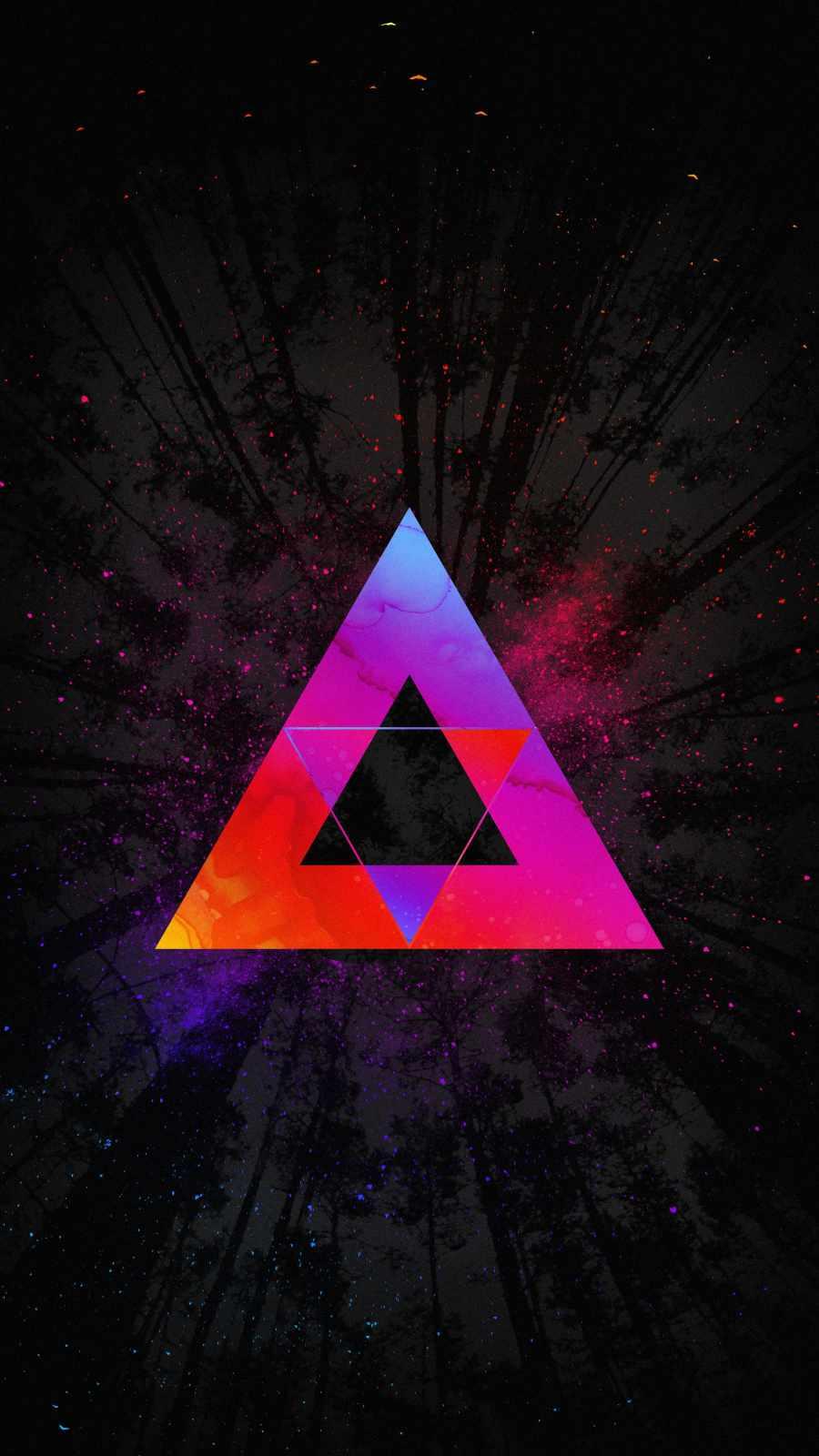 Triangle Art iPhone Wallpaper