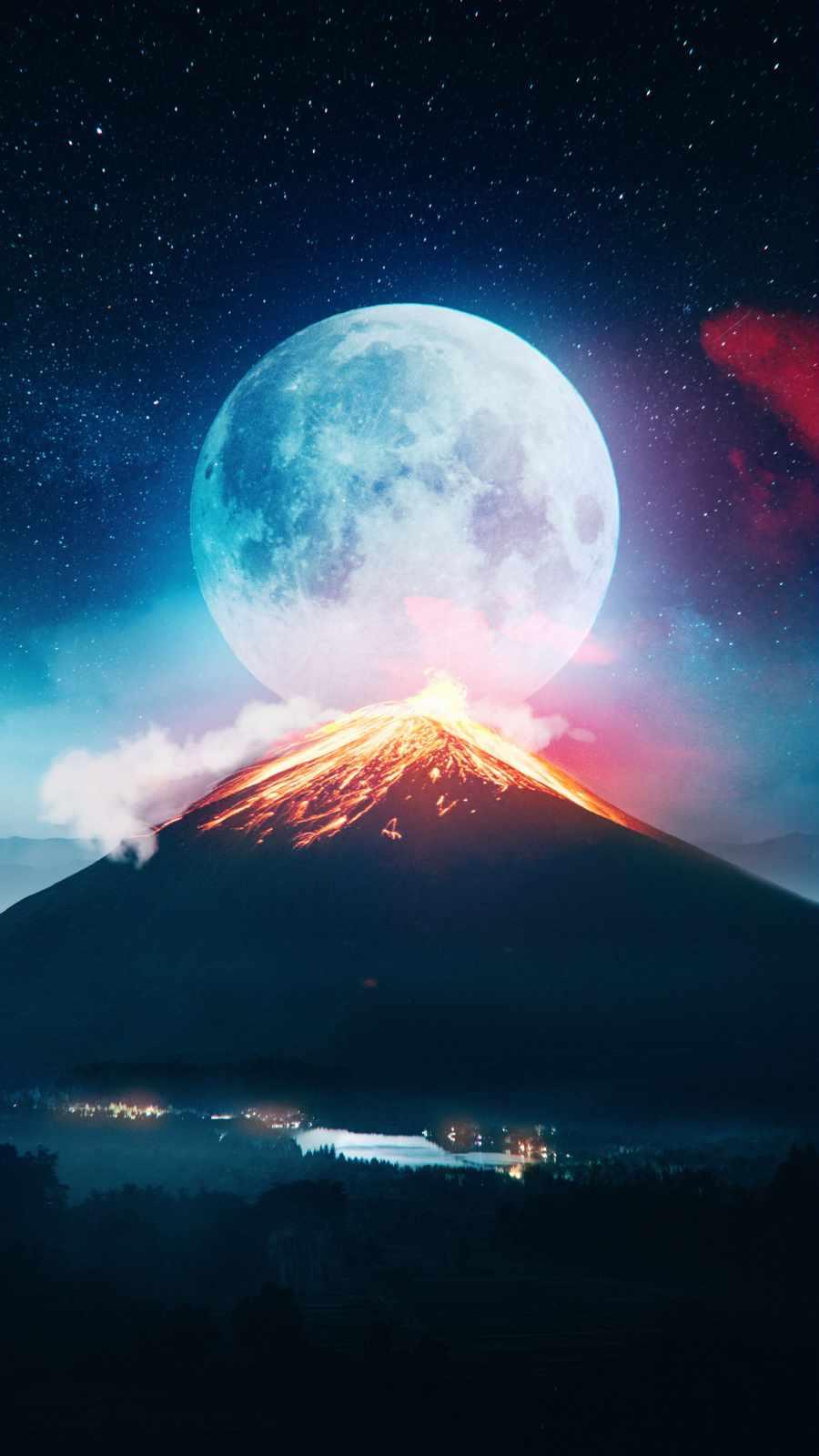 Volcanic Moon iPhone Wallpaper
