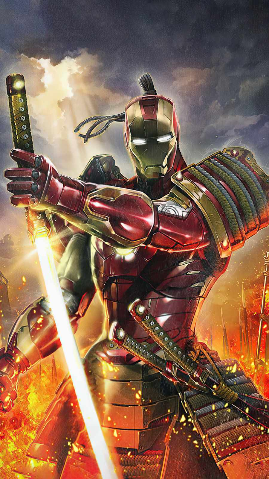 iron man as samurai