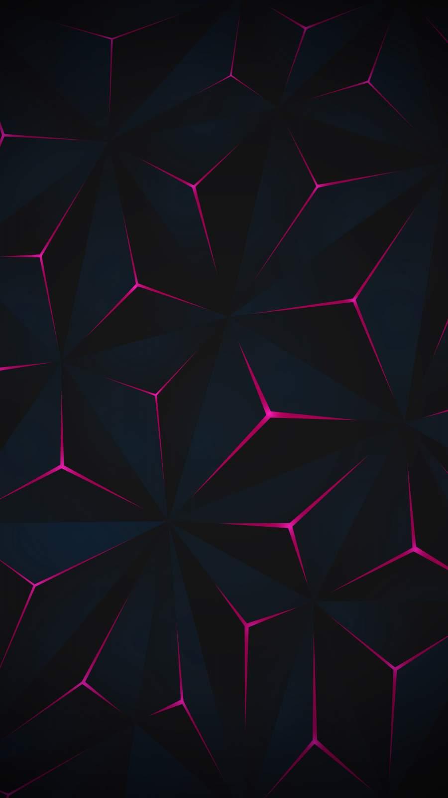 3D Triangles iPhone Wallpaper