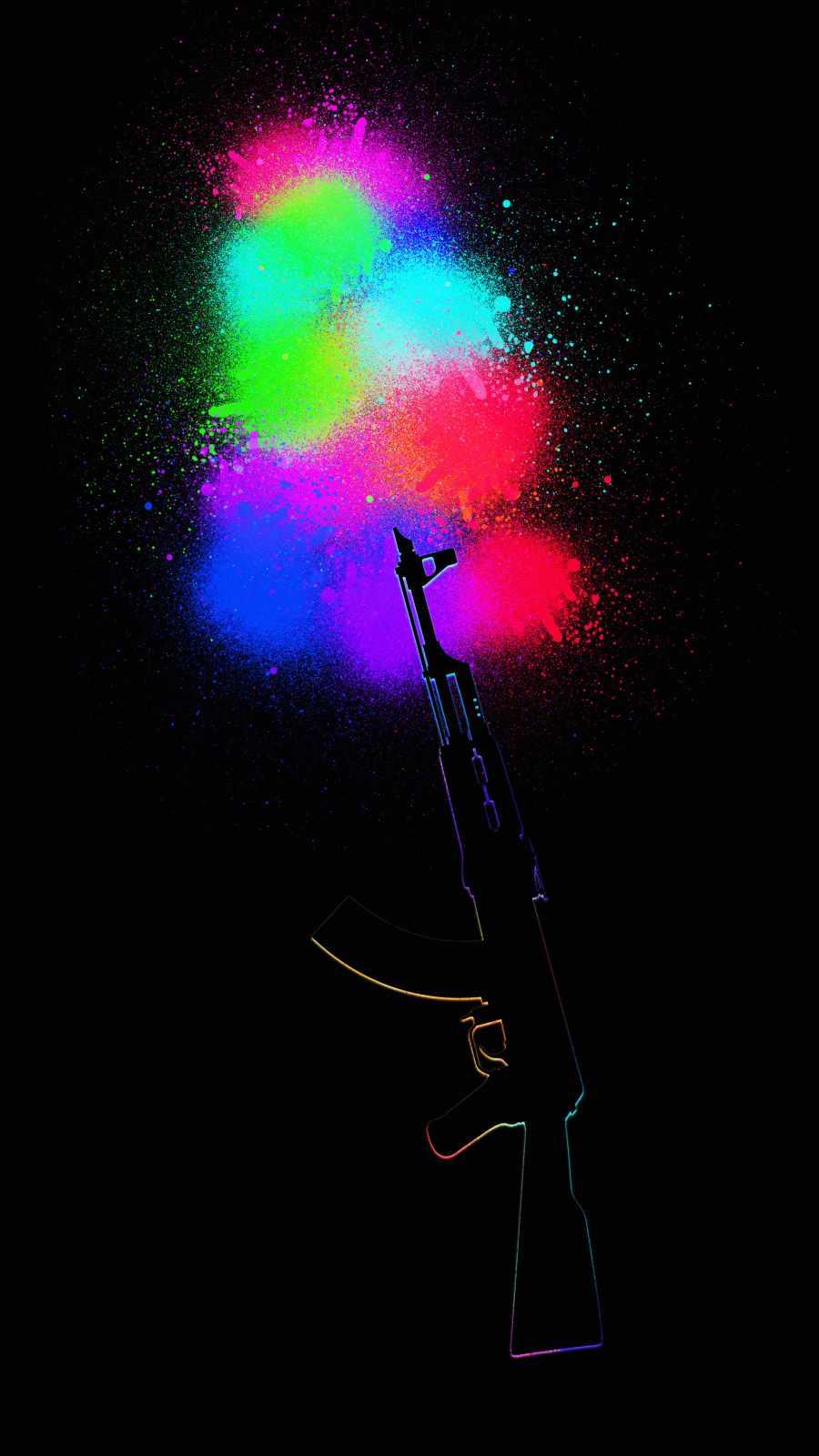 AK 47 Colors iPhone Wallpaper