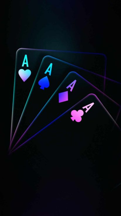Ace Cards Amoled iPhone Wallpaper