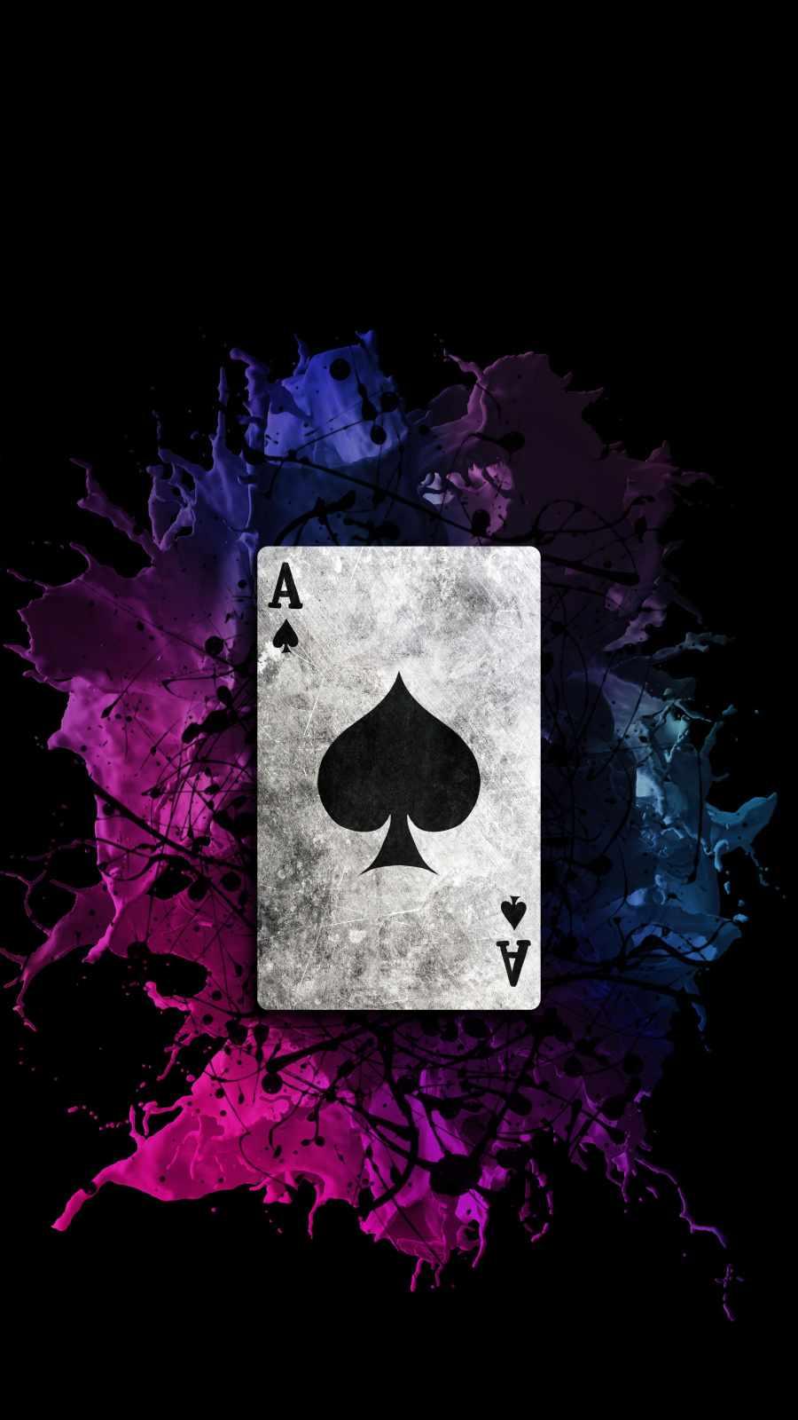 Ace Spade Card iPhone Wallpaper