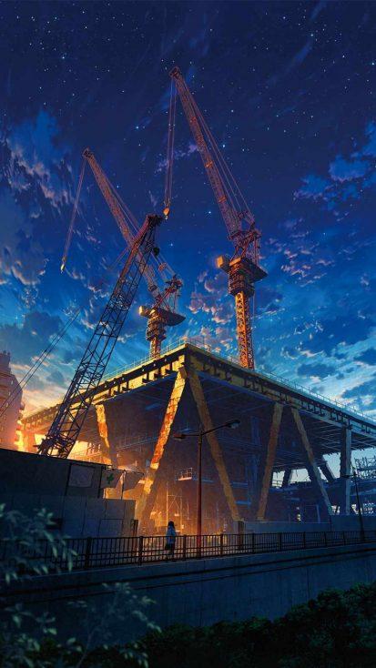Anime Construction Building