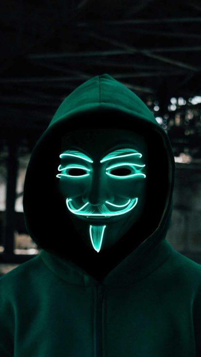 Anonymous Glowing Mask