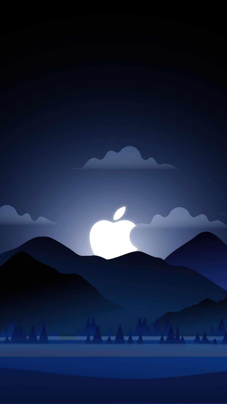 Apple Sunset iPhone Wallpaper