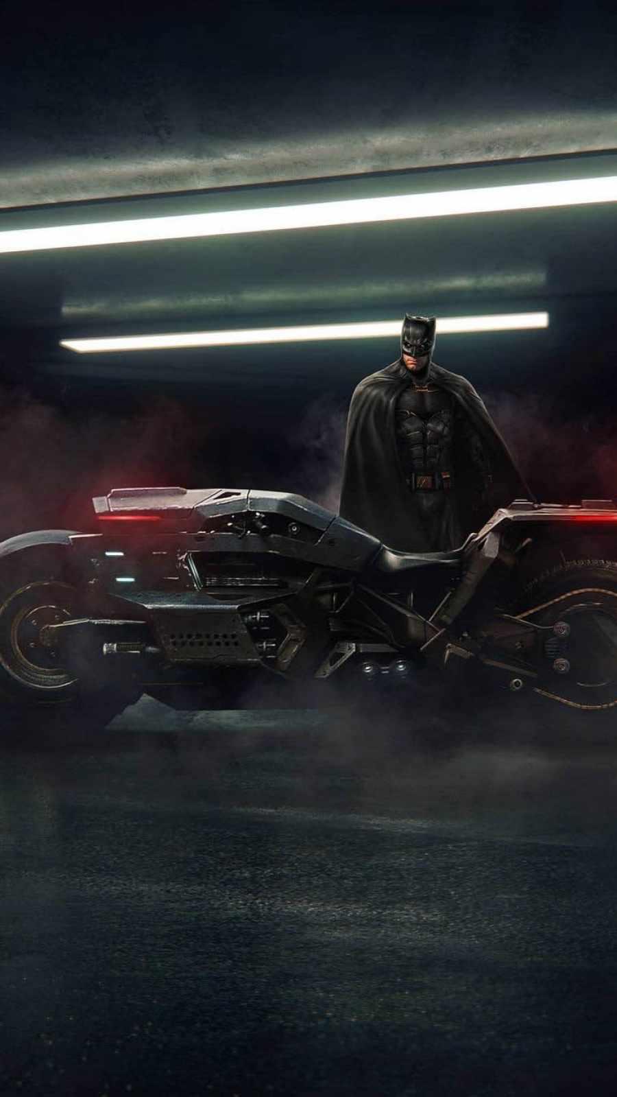 Batman with Bat Bike Ben Affleck