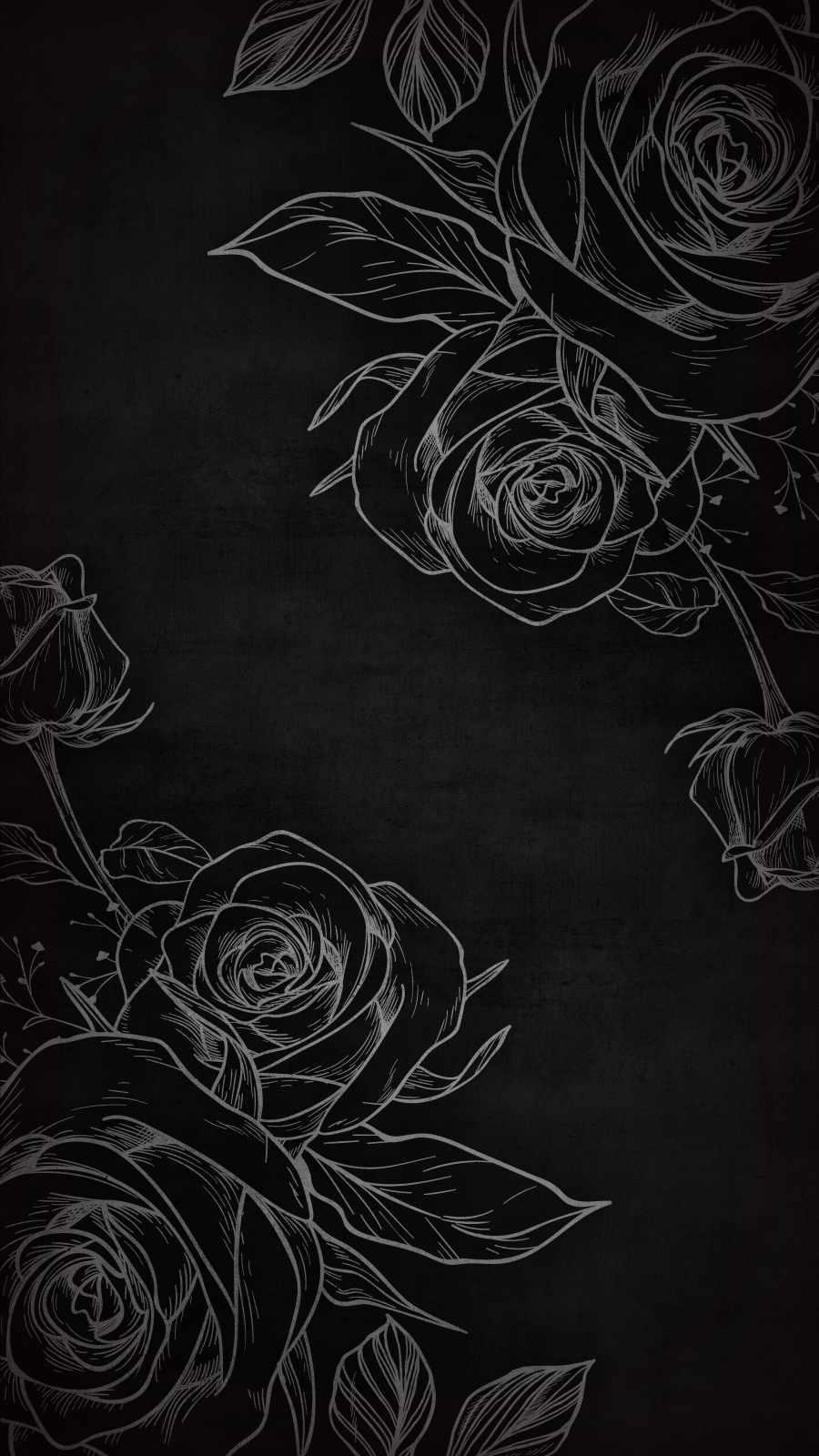 Black Rose Art iPhone Wallpaper