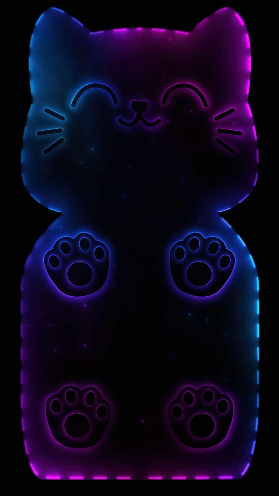 Cat Phone iPhone Wallpaper