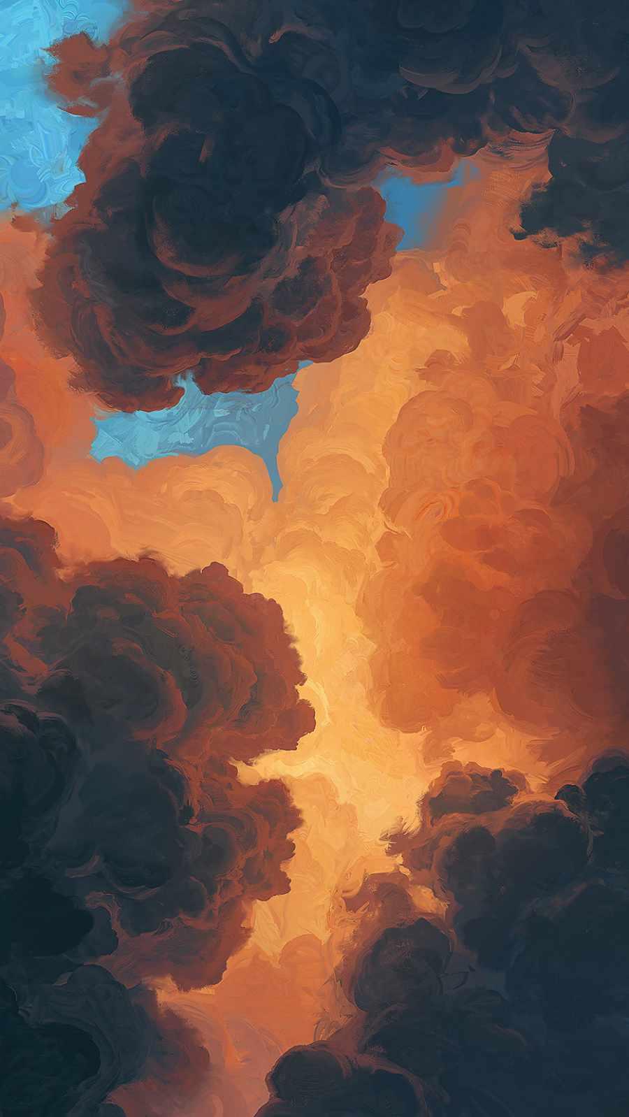 Cloudy iPhone Wallpaper