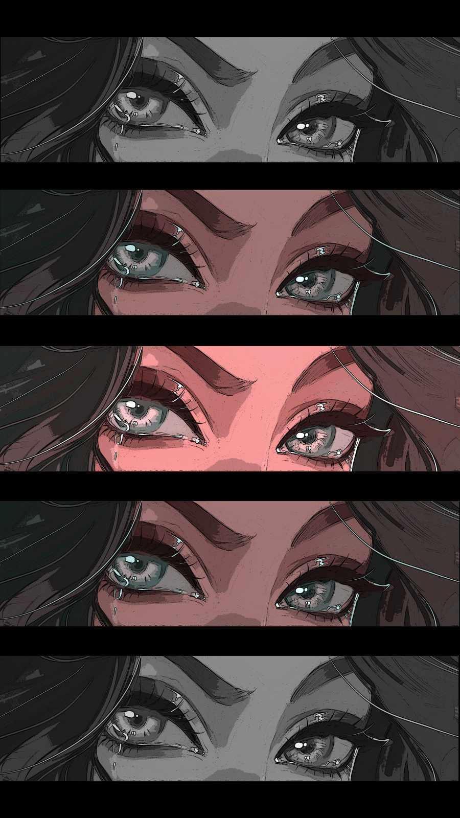 Crying Eyes iPhone Wallpaper