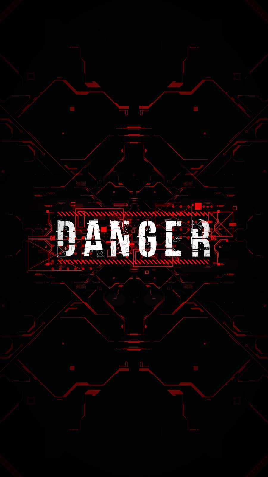 DANGER iPhone Wallpaper