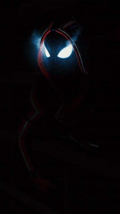 Dark Spiderman Glowing Eyes