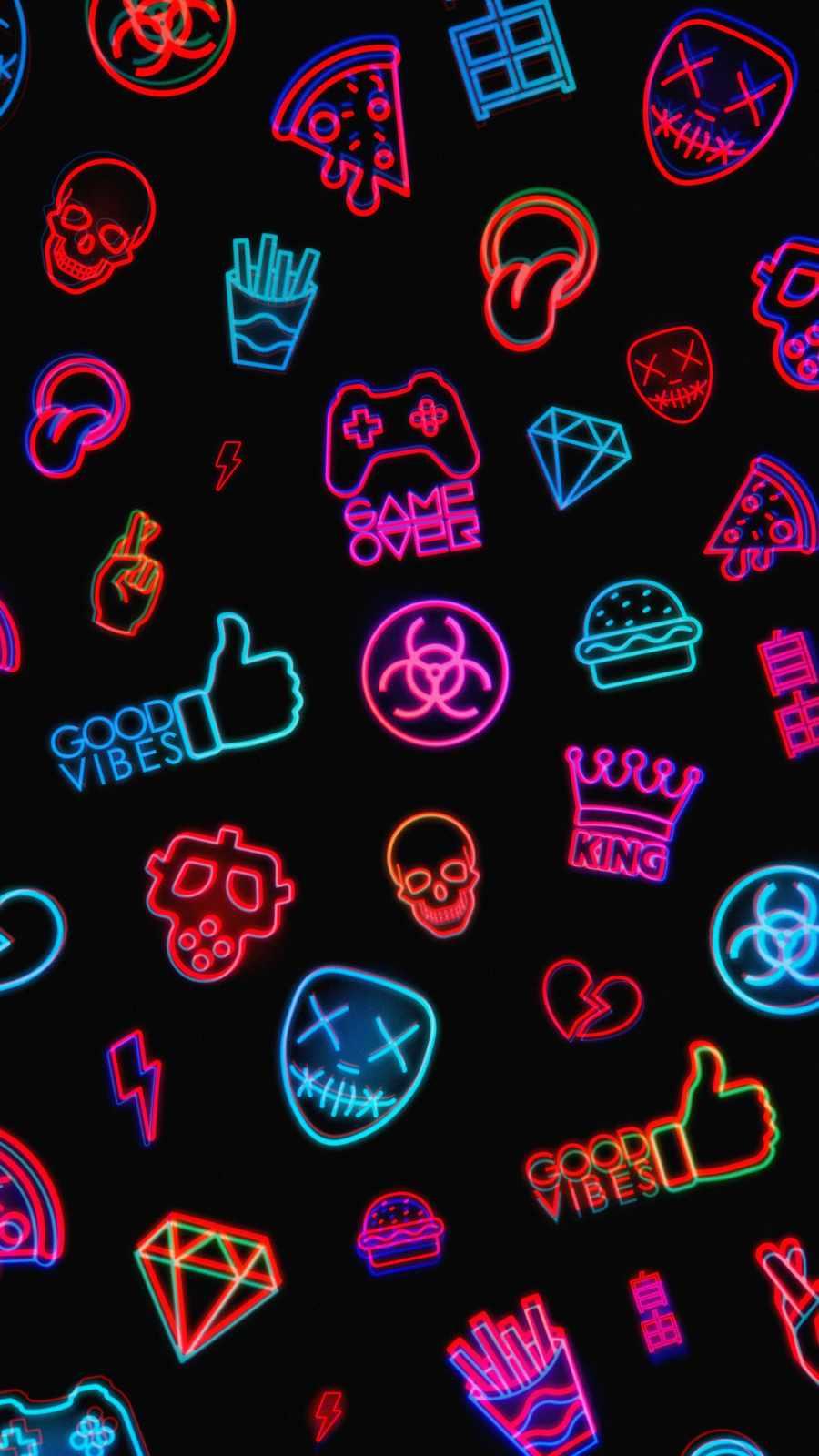 Gamer Logos iPhone Wallpaper