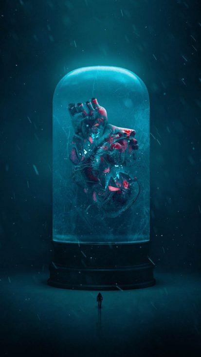 Heartbroken Frozen in time