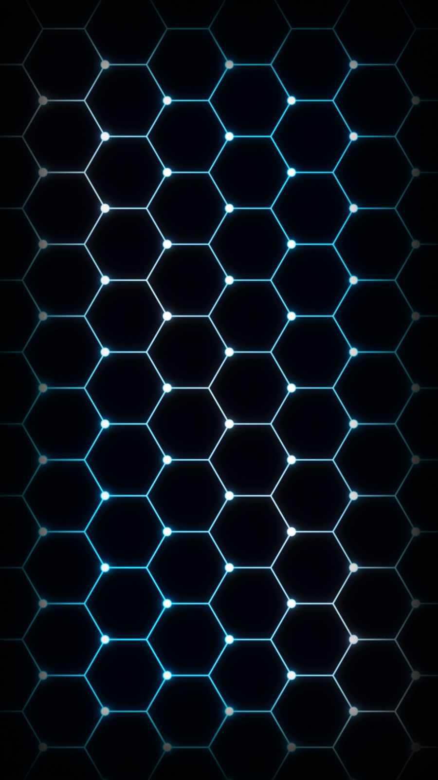Hexagon Mesh iPhone Wallpaper