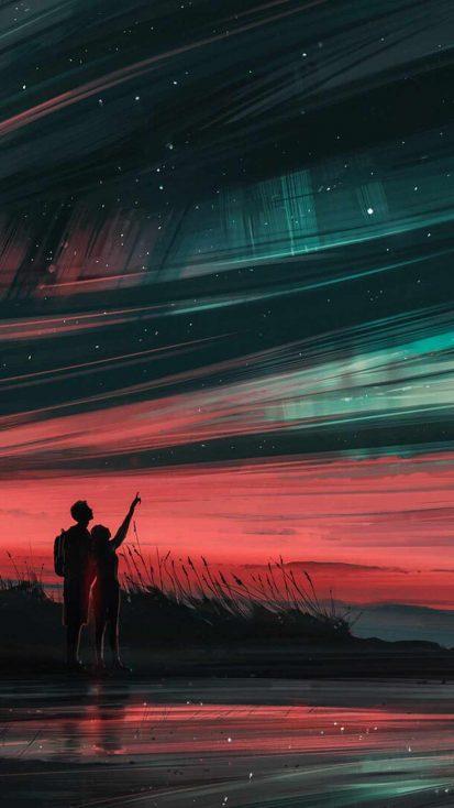 Lovers Watching Sky