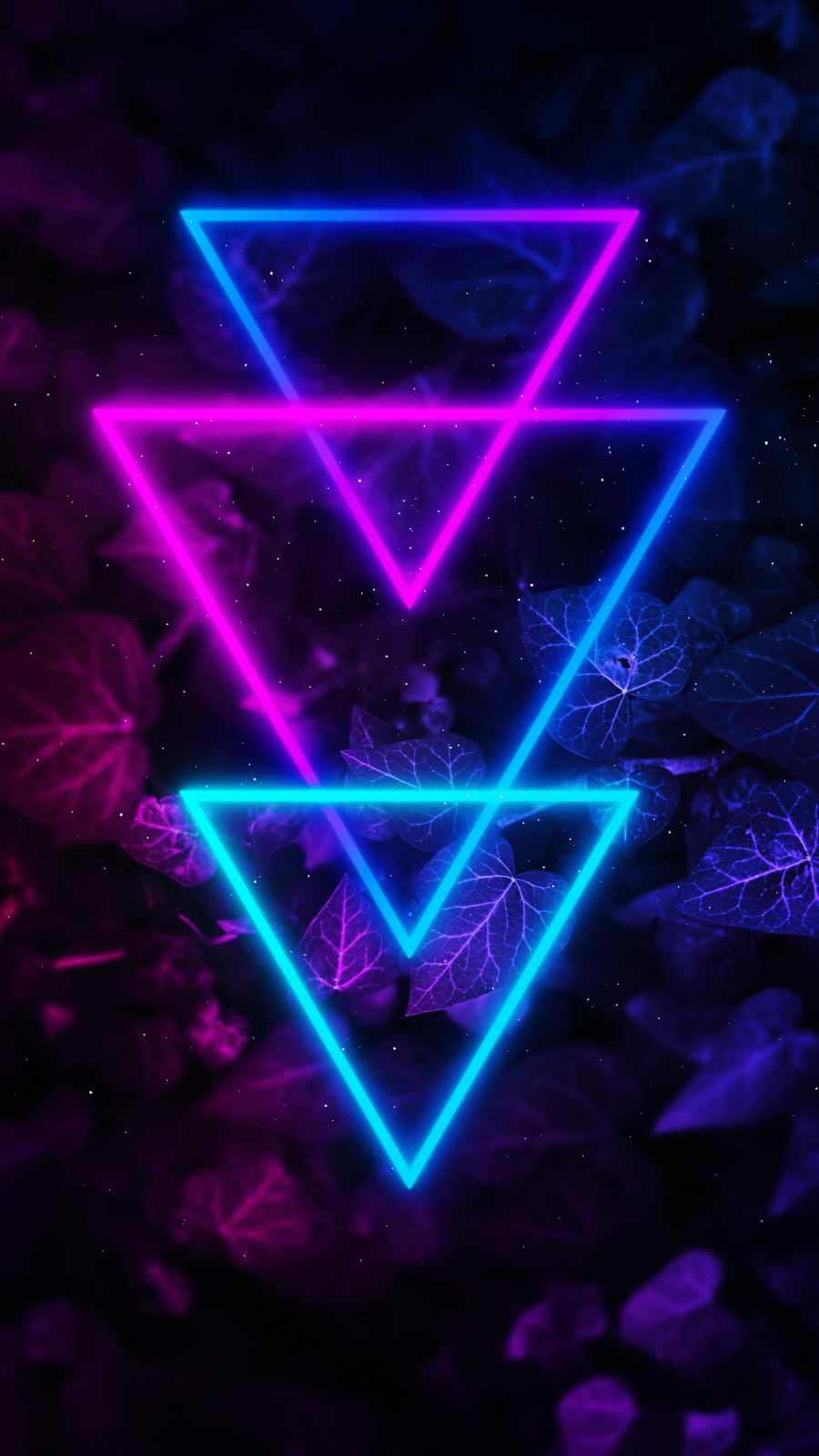 Neon Triangle Colors iPhone Wallpaper