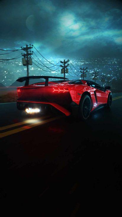 Night Lamborghini iPhone Wallpaper