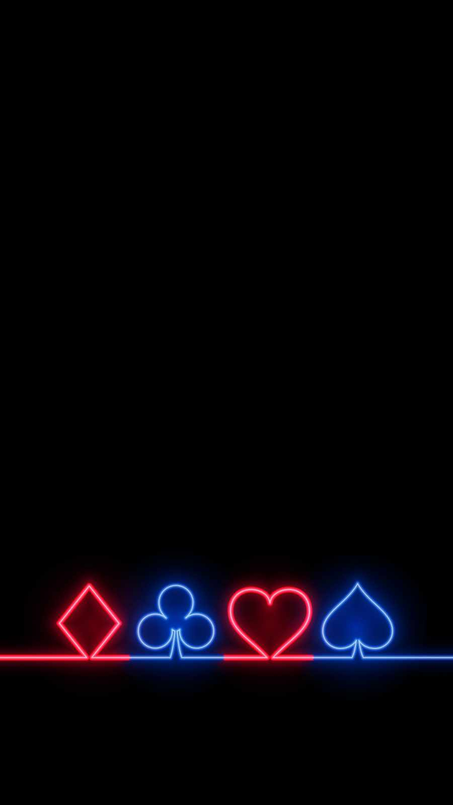 Poker Symbols Neon