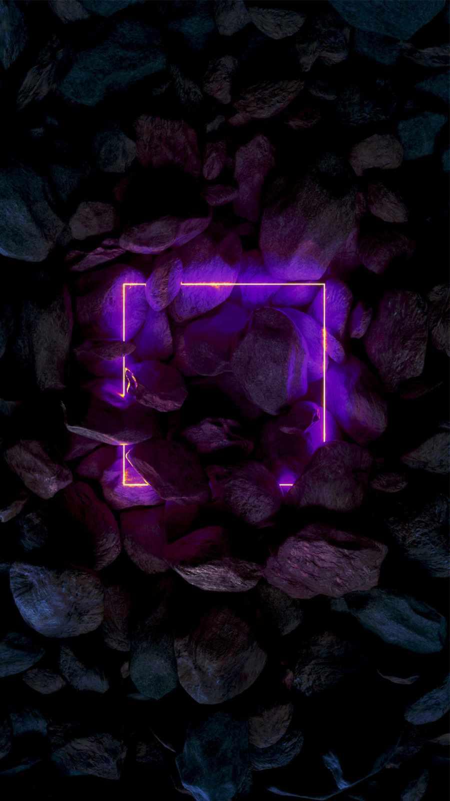 Purple Neon Stones Nature