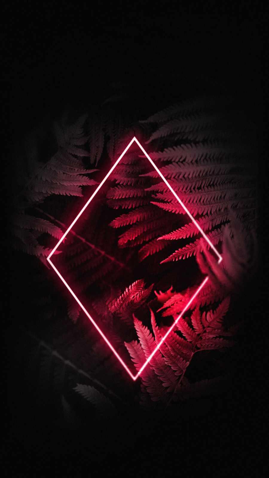 Red Rhombus Neon