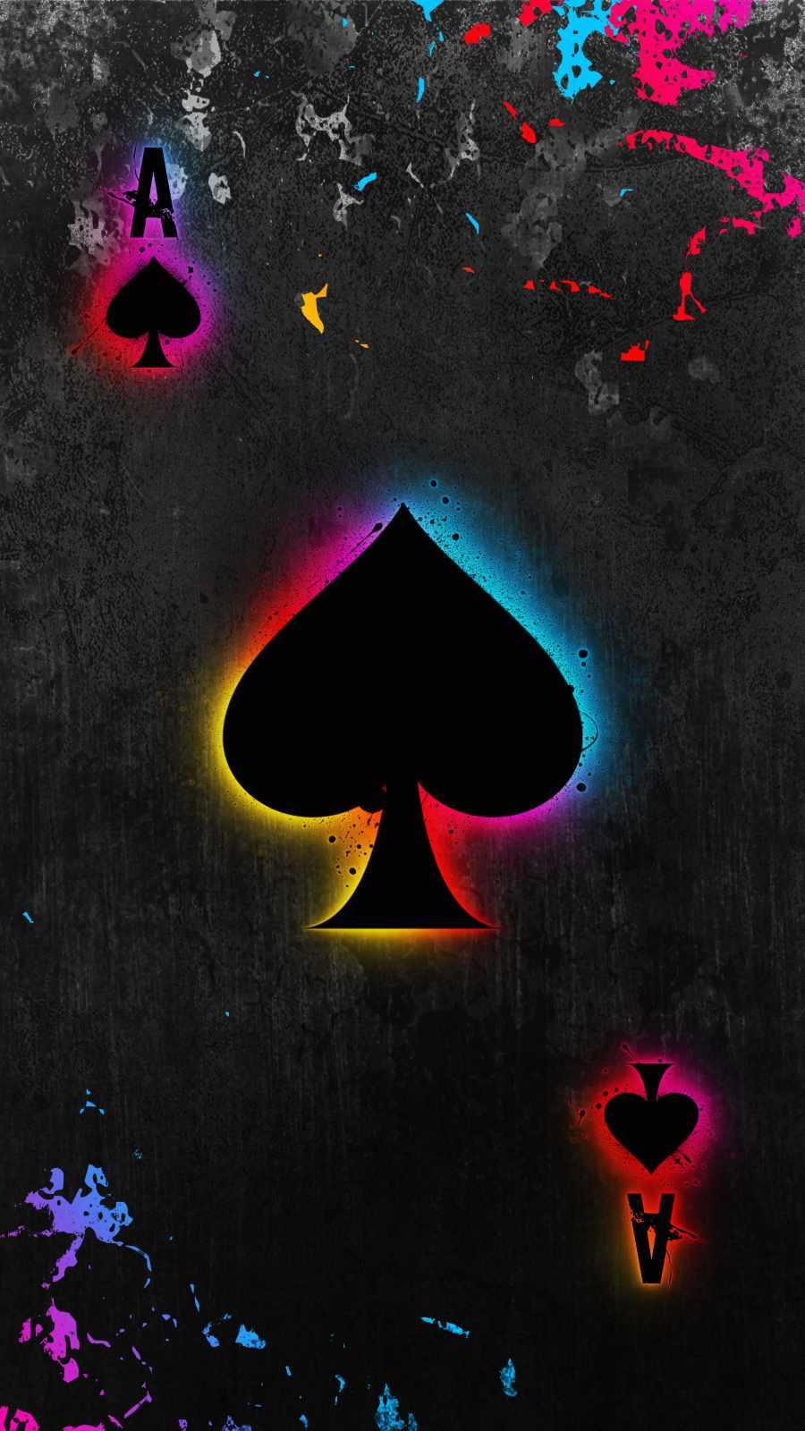 Spade Card Art iPhone Wallpaper