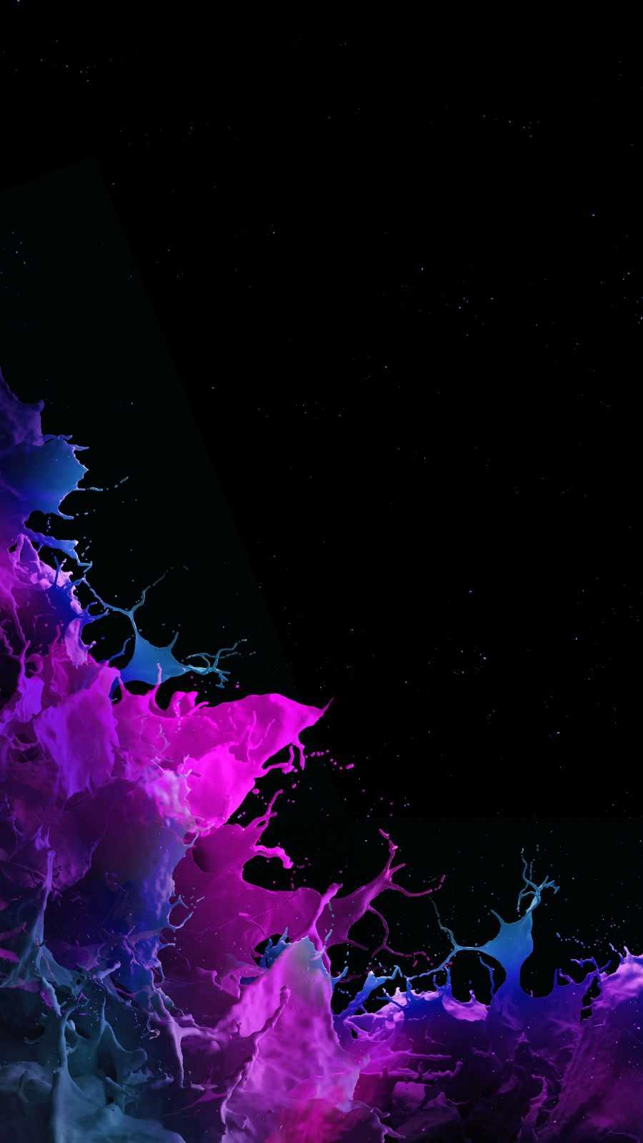Splash Colors iPhone Wallpaper