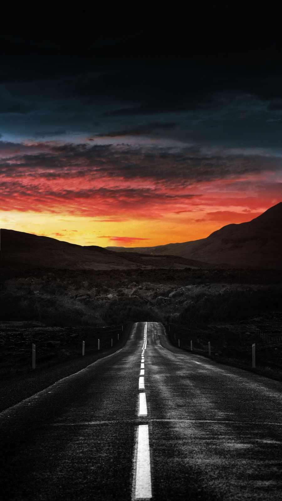 Straight Road Sunrise