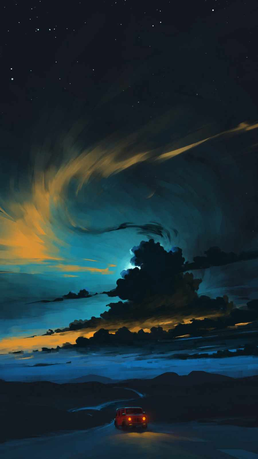 Sunset Drive iPhone Wallpaper
