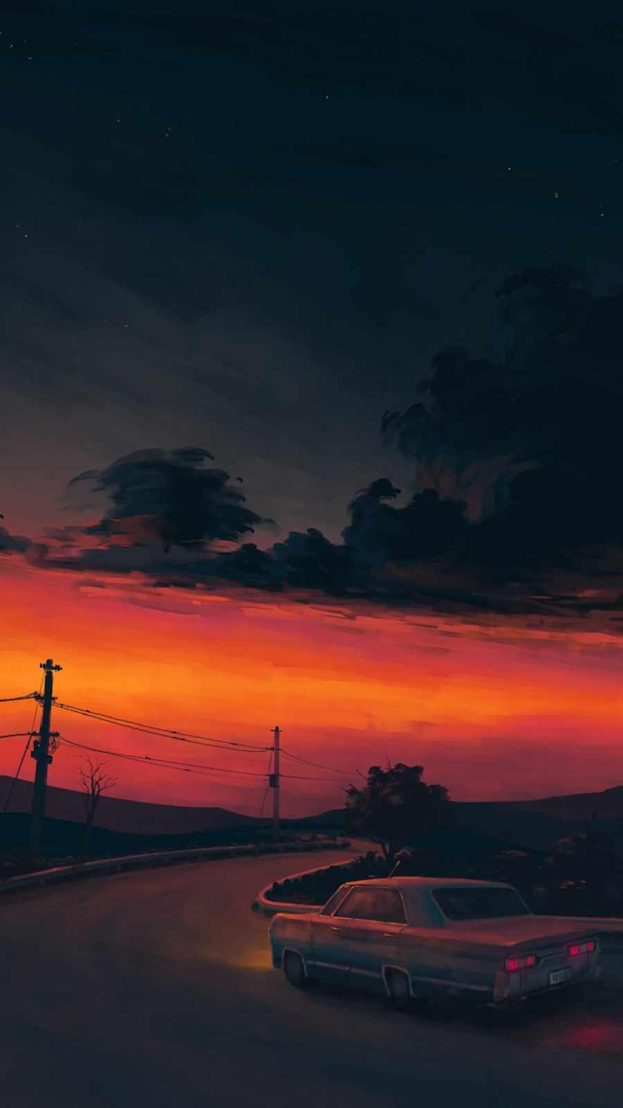 Sunset Road Car