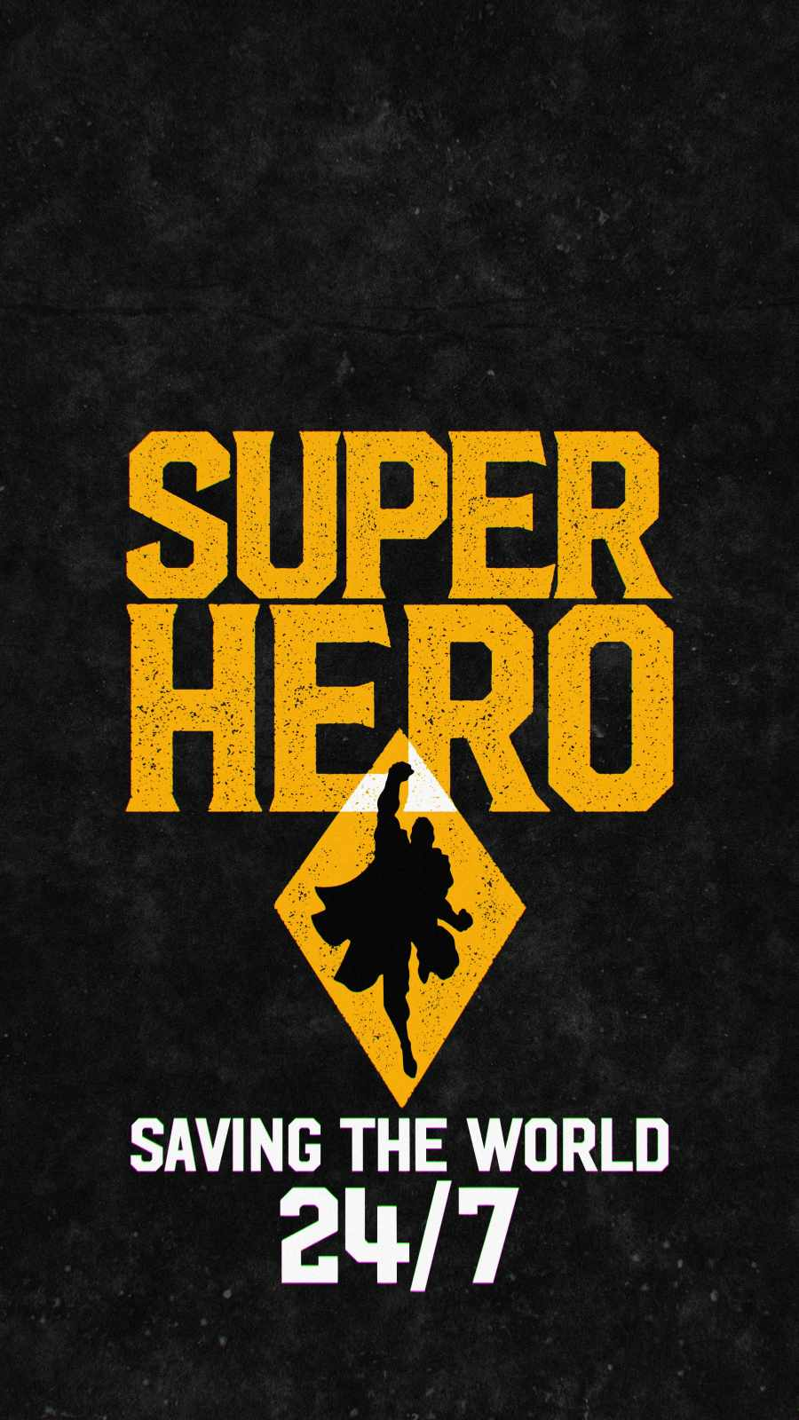 Superhero Saving the World